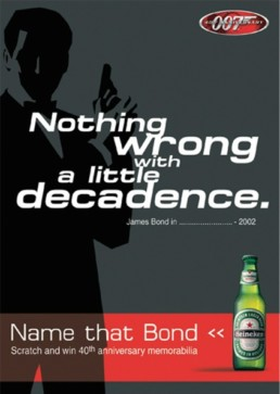 HEINEKEN: 007, BEST SERVED CHILLED'